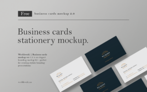 Free download: Business cards stationery mockup.